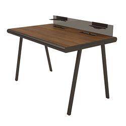 "Desk with Glass Privacy Tray - 60""W"