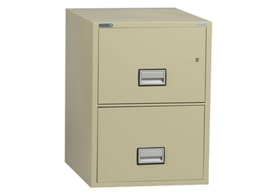 "Fireproof Two Drawer Vertical File - 19.875""W x 25""D"