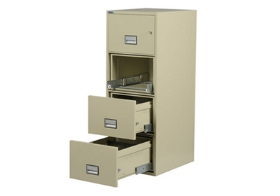 "Fireproof Four Drawer Vertical File - 16.875""W x 31""D"