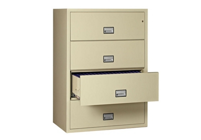 "Fireproof Four Drawer Lateral File - 38.75""W x 23.5""D"