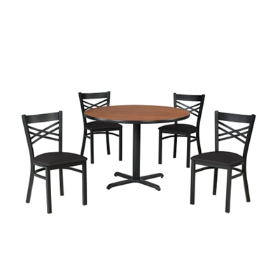 Cross Back Chair & Table Set