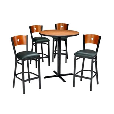 "Circle Back Stools & 36"" Bar Height Table Set"