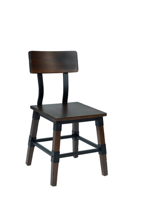 Two-Toned Chair with Wooden Back
