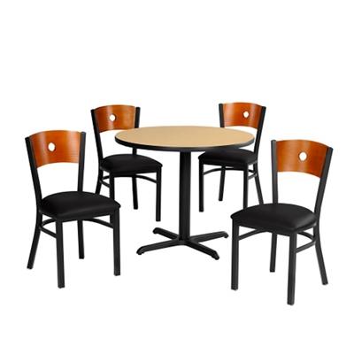 Circle Back Chair & Table Set