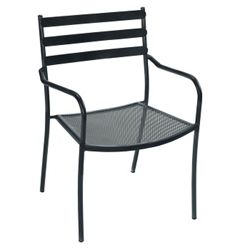 Slat Back Metal Outdoor Chair