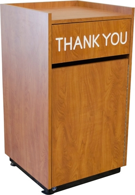 """Laminate """"Thank You"""" Waste Receptacle - 23""""W x 23""""D"""