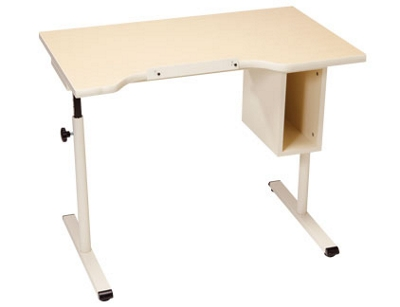 "Adjustable Height Student Desk with Storage - 40""W x 24""D"