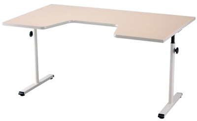 "Adjustable Height Therapy Table with Comfort Curve - 59""W x 35""D"