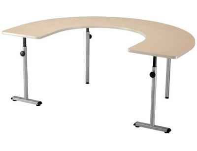 "Half Circular Therawrap Treatment Table - 72""W x 48""D"
