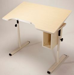 "Adjustable Height Student Desk with Tilt - 40""W x 24""D"