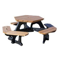 Recycled Plastic Hexagonal Economy Plaza Picnic Table