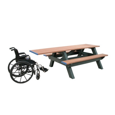 Single ADA Accessible Recycled Plastic Picnic Table