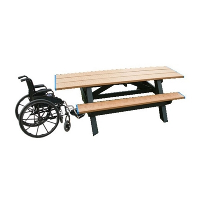 Double ADA Accessible Recycled Plastic Picnic Table