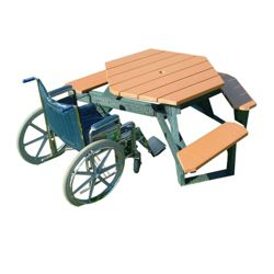 ADA accessible Standard Open Hexagonal Picnic Table