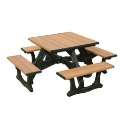 Town Square Outdoor Table with Molded Frame 40""