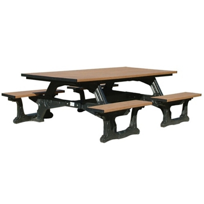 Commons Outdoor Table With Molded Frame 8u0027   ADA Accessible By Polly  Products | NBF.com