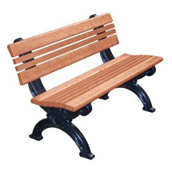 Outdoor Cambridge Bench High Density Plastic 4'