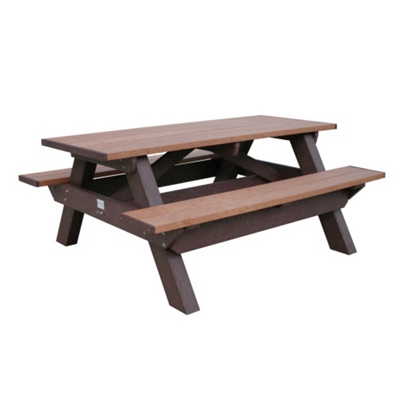 Deluxe Recycled Plastic Picnic Table 6'