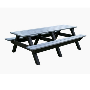 Deluxe Recycled Plastic Picnic Table And More Lifetime - Plastic bench that turns into a picnic table