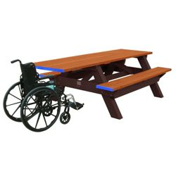ADA Accessible Recycled Plastic Deluxe Picnic Table 8'