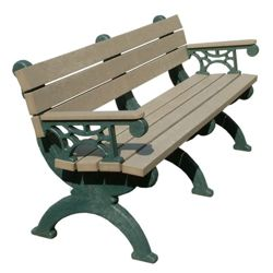 Monarque Bench with Arms 6'