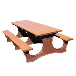 Easy Access Recycled Plastic Picnic Table 8'
