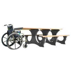 Easy Access ADA Accessible Recycled Plastic Picnic Table