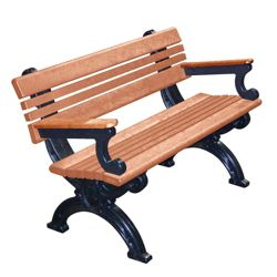 Outdoor Cambridge Bench with Arms 4'