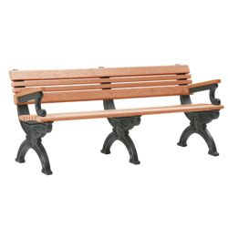 Outdoor Cambridge Bench with Arms 6'