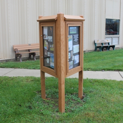 Three Sided Outdoor Kiosk