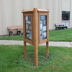 Three Sided Outdoor Kiosk