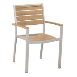 Euro Dining Arm Chair in Plastique Teak