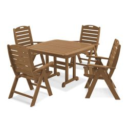 Outdoor Table and Four High Back Chairs