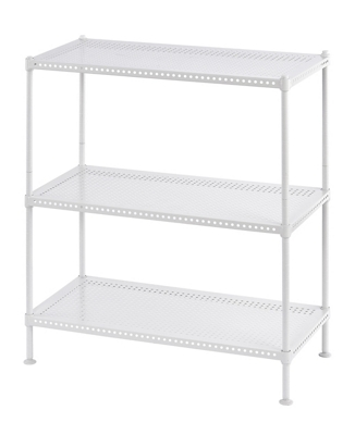 "Perforated Three Shelf Steel Shelving 24"" W x 12"" D x 28"" H"
