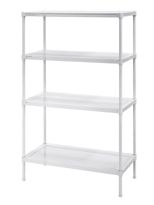 "Perforated Four Shelf Steel Shelving 30"" W x 14"" D x 47"" H"
