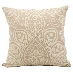 "kathy ireland by Nourison Lace Overlay Accent Pillow - 18""W x 18""H"