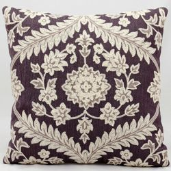 """kathy ireland by Nourison Floral Two Tone Square Pillow -18"""" x 18"""""""