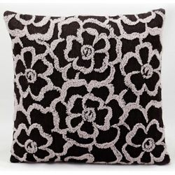 """kathy ireland by Nourison Stitched Flower Square Pillow - 18 x 18"""""""