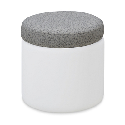 Brite Cushioned Ottoman with Wobbling Base