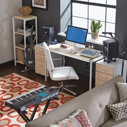 Brite Collection table desk set with digital music equipment shown at an angle