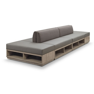 Encounter Six Piece Loveseat and Bench Set