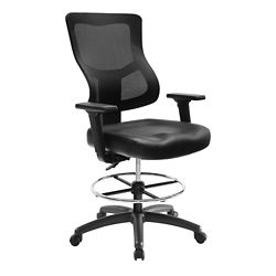 Ranier Leather Seat Drafting Stool