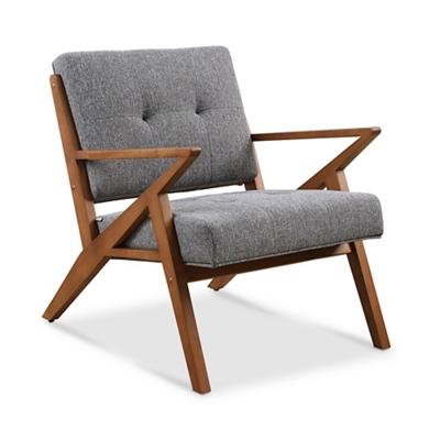 Zindi Tufted Fabric Lounge Chair
