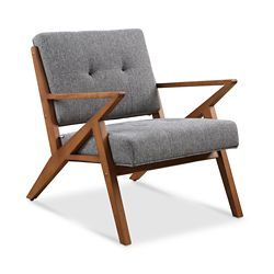 Zindi Tufted Fabric Lounge Chair