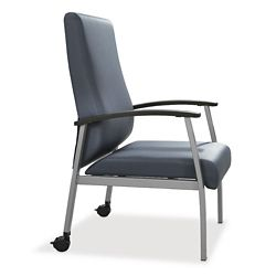 Compass High Back Guest Chair with Arms and Casters
