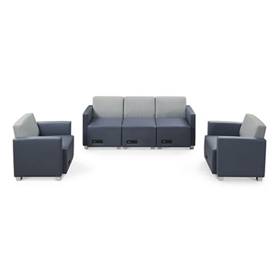 Compass Sofa and Two Armchairs