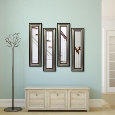 "Set of Four Decorative Frame Mirror Panels - 29.5""H x 15.5""W"