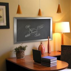 "42""W x 48""H Decorative Framed Blackboard"
