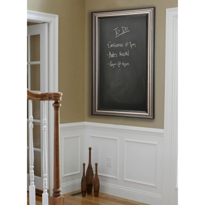 "36""W x 42""H Decorative Framed Blackboard"