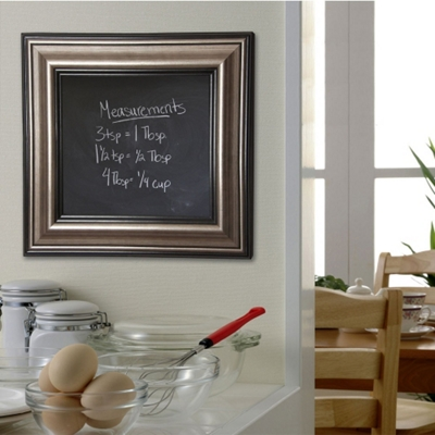 "54""W x 54""H Decorative Framed Blackboard"